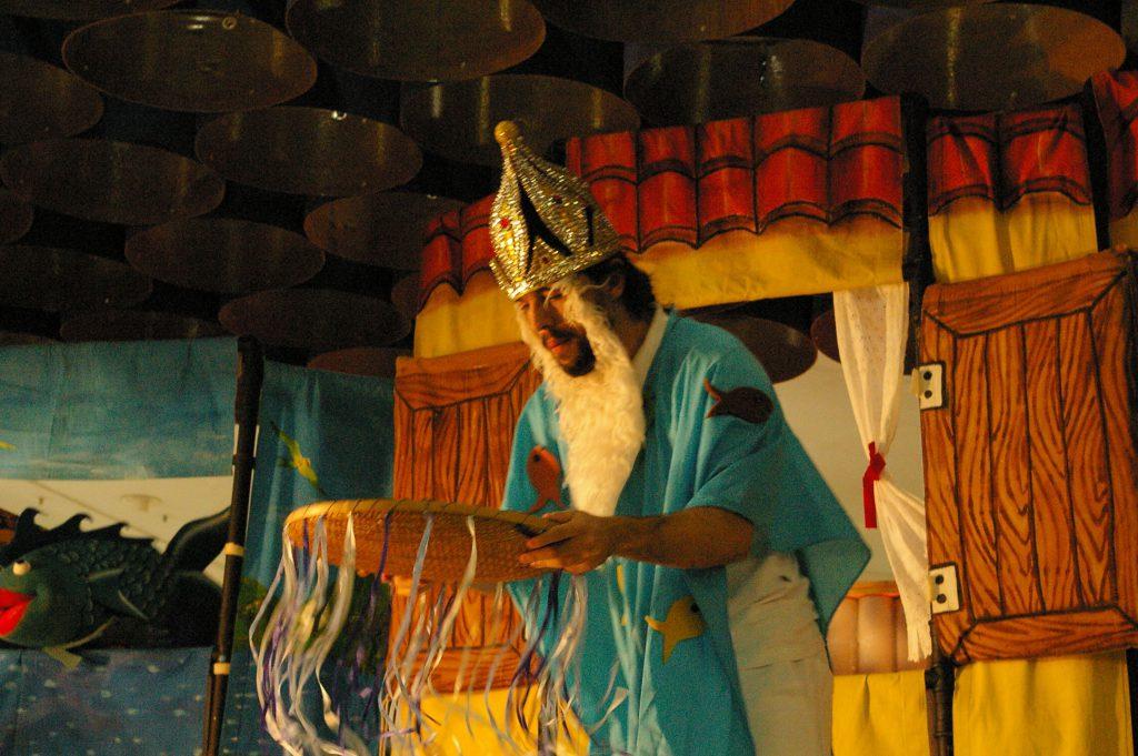 Espetáculo para alunos de escolas públicas.